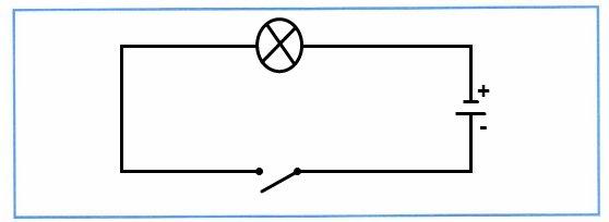 Нарисуйте электрическую цепь, которую вы собрали.