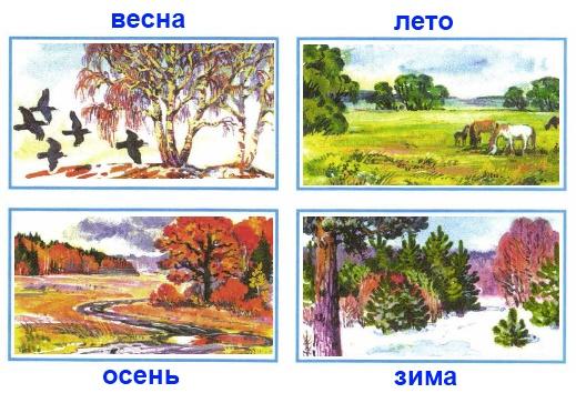 Вырежи из Приложения рисунки и наклей их в правильной последовательности. Начни с весны