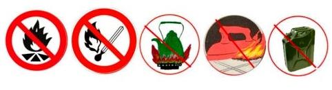 Придумай и нарисуй условные знаки к памятке «Чтобы не было пожара»